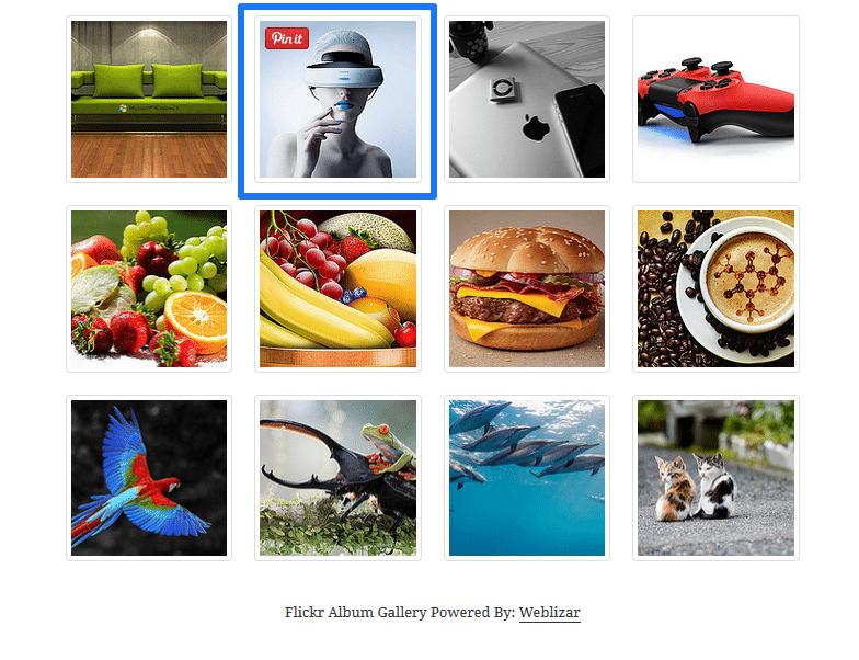 account pinterest - bottone su immagini